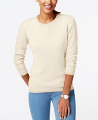 Charter Club Cashmere Crew Neck Sweater Only At Macy's Ivory