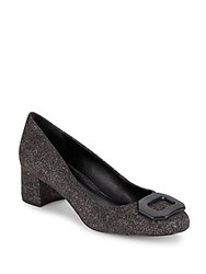 Saks Fifth Avenue Leather Blend Slip On Pumps Oxford