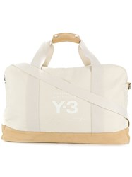 Y3 Sport Logo Print Holdall Nude And Neutrals