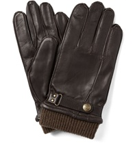 Dents Penrith Knit Trimmed Leather Gloves Brown