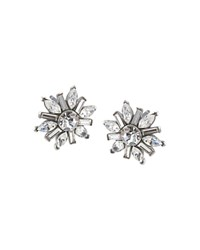 Carolee Small Cluster Earrings Silver