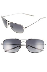 Men's Salt 'Tompkins' 60Mm Polarized Sunglasses Traditional Silver Grey
