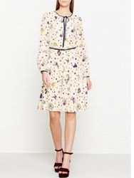 Tommy Hilfiger Renee Tattoo Print Silk Dress Multicolour