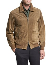 Vince Suede Flight Jacket Tobacco Brown