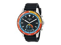 Fossil Q Crewmaster Hybrid Smartwatch Ftw1124 Silver Black Silicone Watches