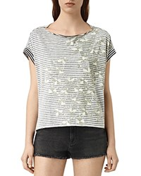 Allsaints Farrow Pina Tee Chalk White Black