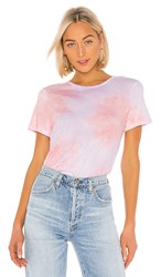 Michael Stars Brittany Tee In Pink. Aster Primrose