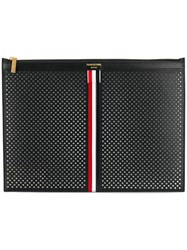 Thom Browne Medium Zipper Document Holder 35X25 Cm With Red Black