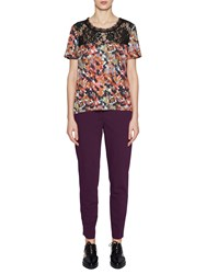 French Connection Eleanor Crepe Top Redwood