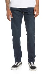 Raleigh Denim Martin Skinny Slouchy Fit Jeans Dark Blue Wash
