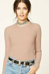 Forever 21 Contemporary Ribbed Sweater