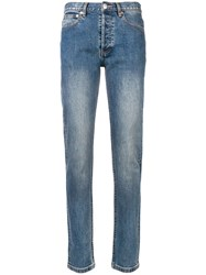A.P.C. Stonewashed Skinny Jeans Blue