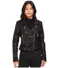 Blank Nyc Moto Jacket In Squad Goals Black Women's Coat