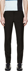 Burberry Black Wool Sterling Trousers