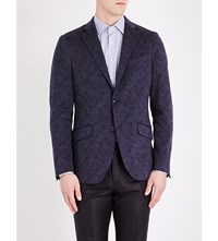 Etro Paisley Cotton Jersey Jacket Blue