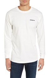 Patagonia Men's P 6 Logo Organic Cotton T Shirt White