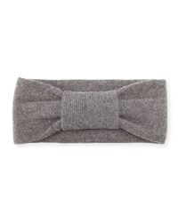Portolano Cashmere Knotted Headband Heather Gray
