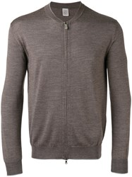 Eleventy Zipped Jumper Brown