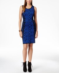 Thalia Sodi Geometric Print Sweater Dress Only At Macy's
