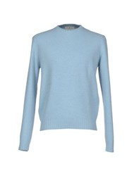 Della Ciana Knitwear Jumpers Men Sky Blue