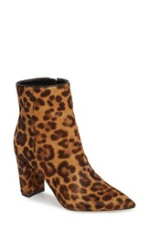 Marc Fisher Ltd Ulanily Pointy Toe Bootie Leopard Calf Hair