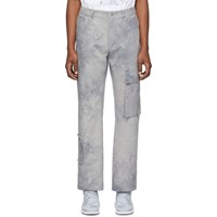 Misbhv Grey Tie Dye The Washed Out Cargo Pants