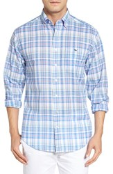 Vineyard Vines Men's Brightwaters Plaid Slim Tucker Sport Shirt