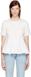 Edit White Godet T Shirt