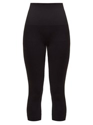 Falke Shape Cropped Performance Leggings Black