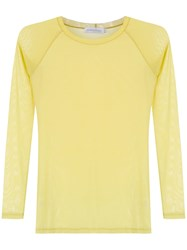 Mara Mac Sheer Blouse Yellow