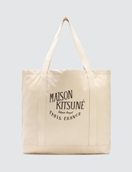 Maison Kitsune Palais Royal Shopping Bag White