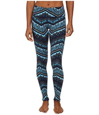 Alo Yoga Airbrushed Legging Seaport Blue Islandic Print Women's Workout
