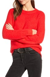 Treasure And Bond Crewneck Sweater Red Chinoise