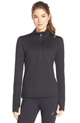 Women's Asics Thermopolis Half Zip Jacket Black Black