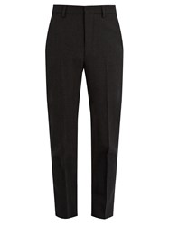 Christophe Lemaire Mid Rise Slim Leg Wool Trousers Grey