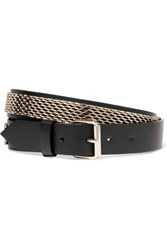 Lanvin Gold Plated Leather Belt S