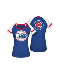 5Th And Ocean Women's Chicago Cubs Athletic Baseball T Shirt Royalblue