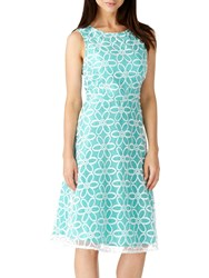 Sugarhill Boutique Anna Floral Embroidered Dress Turquoise