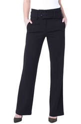 Liverpool Taylor Belted High Rise Trousers Black