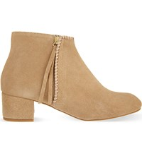 Maje Felicia Suede Ankle Boots Camel