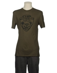 Workers Knitting Mills Short Sleeve T Shirts Military Green