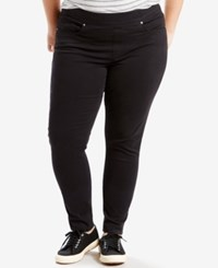 Levi's Plus Size Pull On Skinny Jeggings Black Waves