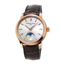Frederique Constant Classics Moonphase Watch Unisex Gold
