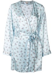 Morgan Lane Langley Bow Print Robe Blue