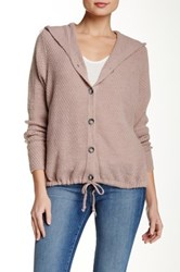 Luma Hooded Sweater Jacket Beige