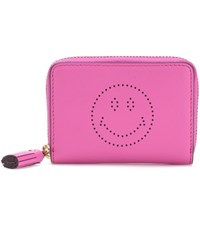 Anya Hindmarch Wink Small Leather Wallet Pink