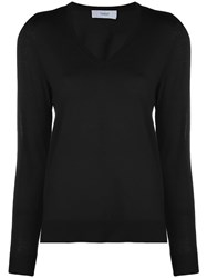 Pringle Of Scotland V Neck Jumper Black