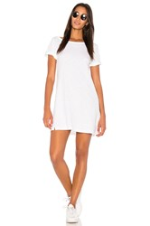 Wilt One Shoulder Roll Cuff Tee Dress White