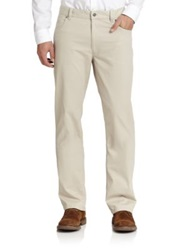 Saks Fifth Avenue Five Pocket Cotton Trousers Putty