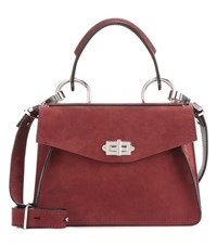 Proenza Schouler Hava Small Suede Tote Red